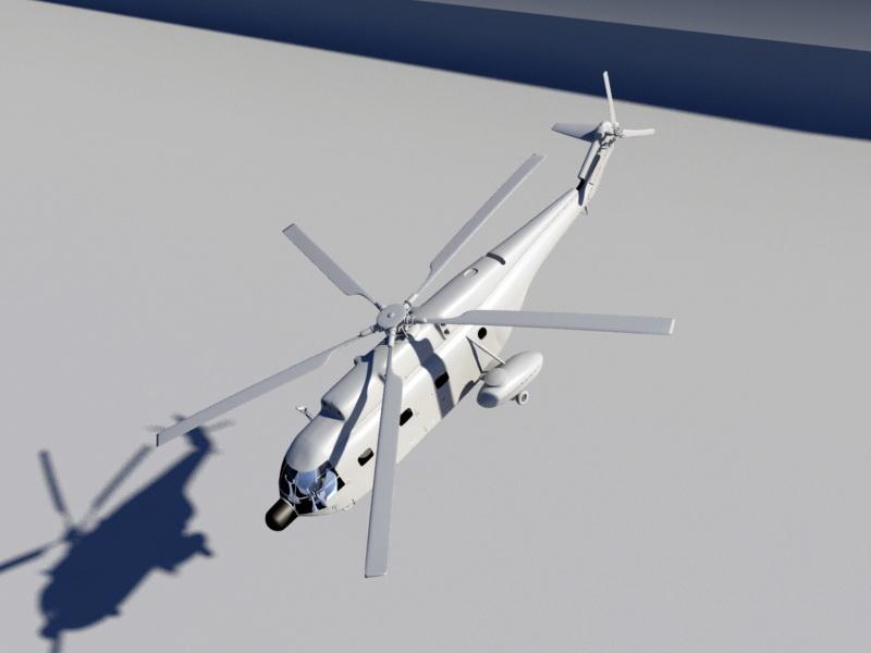 Animated SH-2 Seasprite 3d rendering