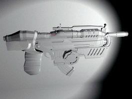 Futuristic Assault Rifle 3d preview