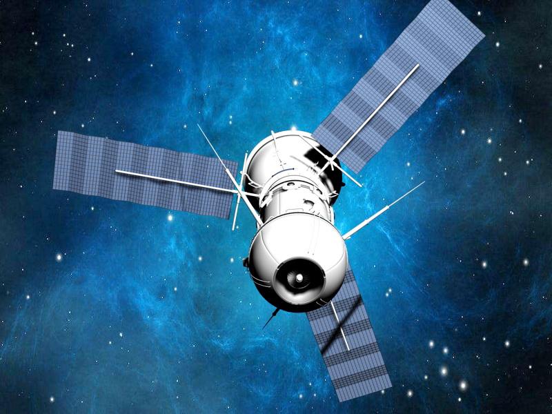 Artificial Satellite 3d rendering