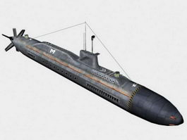 Nuclear Submarine 3d preview
