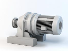Electric Motor Reducer 3d preview
