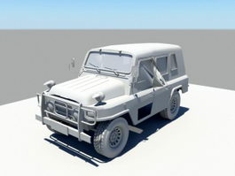 WW2 Military Jeep 3d preview