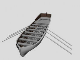 Row Boat 3d preview