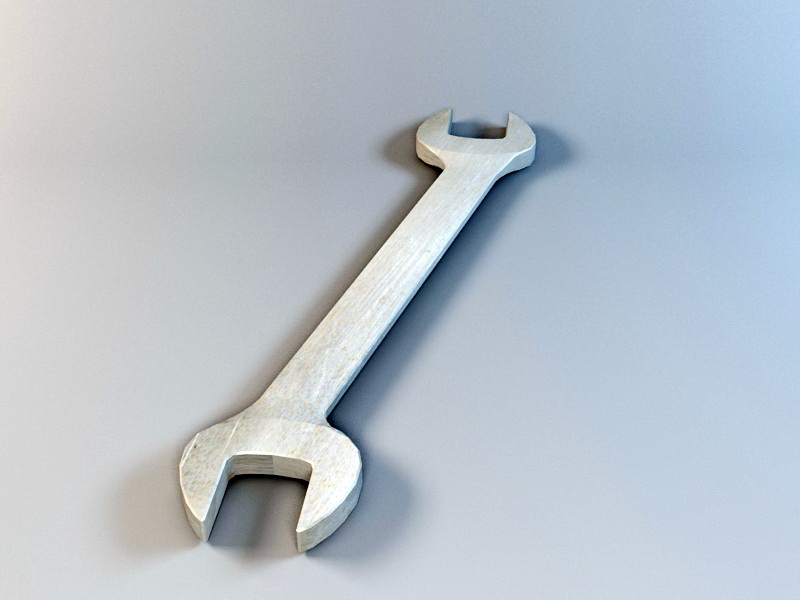 Open End Wrench 3d rendering