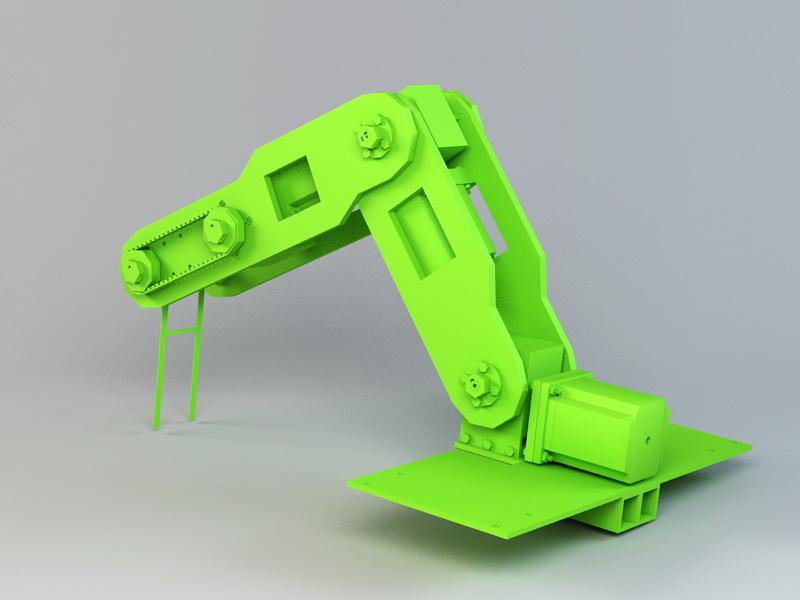 Industrial Robotic Arm 3d rendering