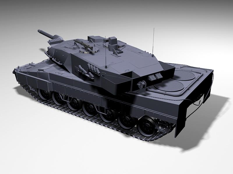 German Leopard 2 Tank 3d rendering