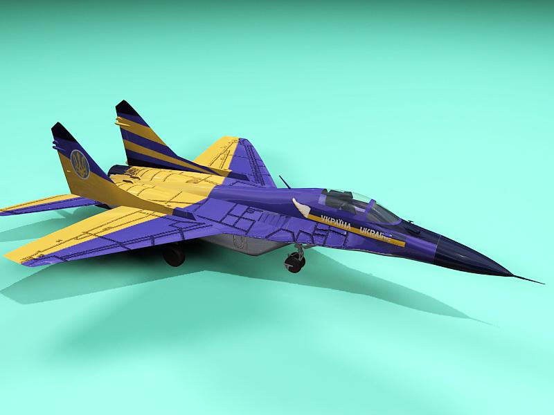 MiG-29 Fighter Jet 3d rendering