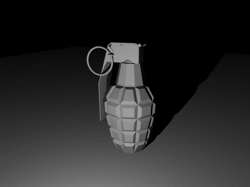 Mk 2 Grenade 3d rendering