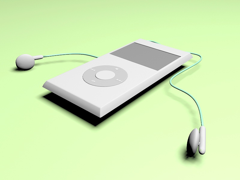 MP3 Player 3d rendering