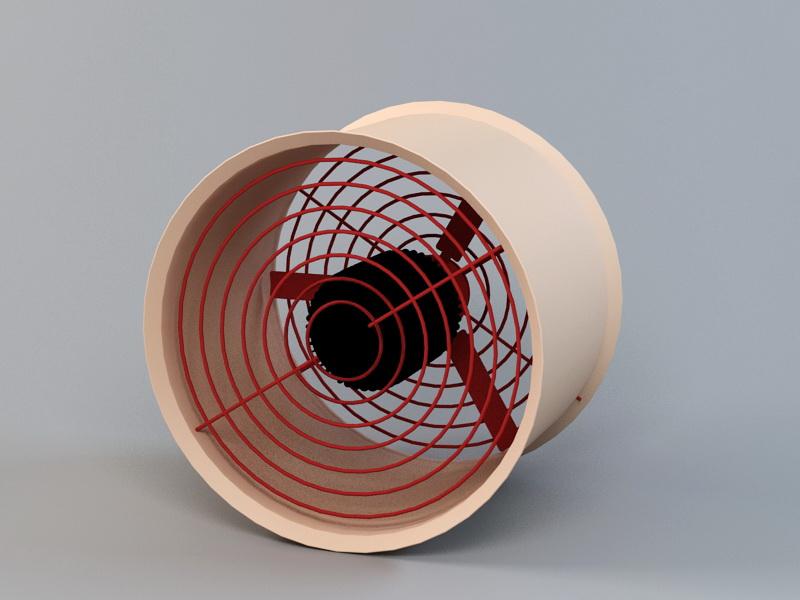 Industrial Ventilation Fan 3d rendering
