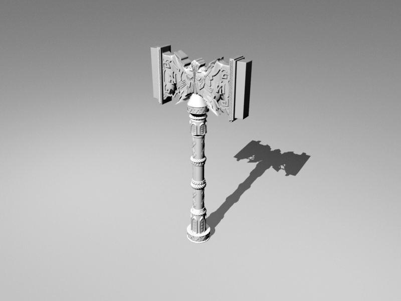 Warhammer Weapon 3d rendering