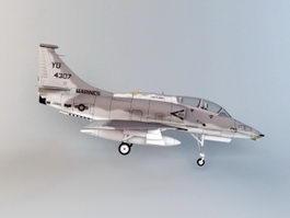 Skyhawk Attack Aircraft 3d preview
