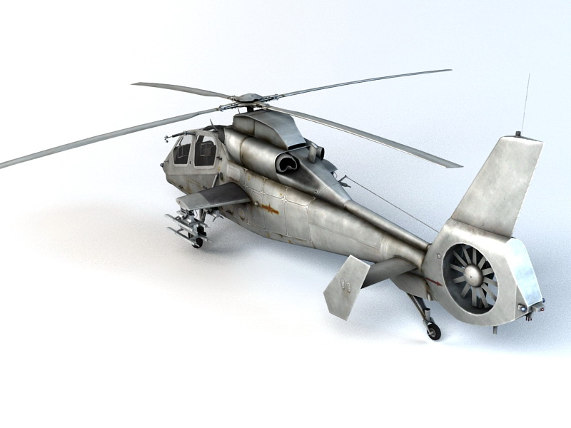 WZ-19 Reconnaissance and Attack Helicopter 3d rendering