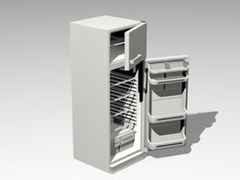 Open Refrigerator 3d preview