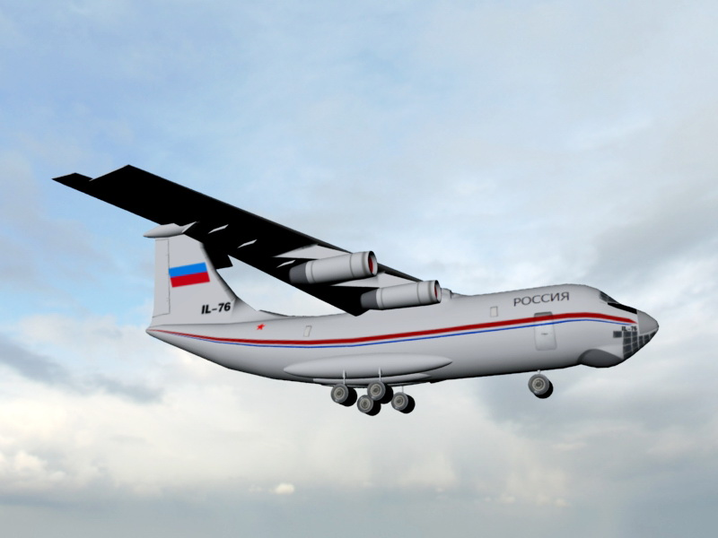 Il-76 Strategic Airlifter 3d rendering