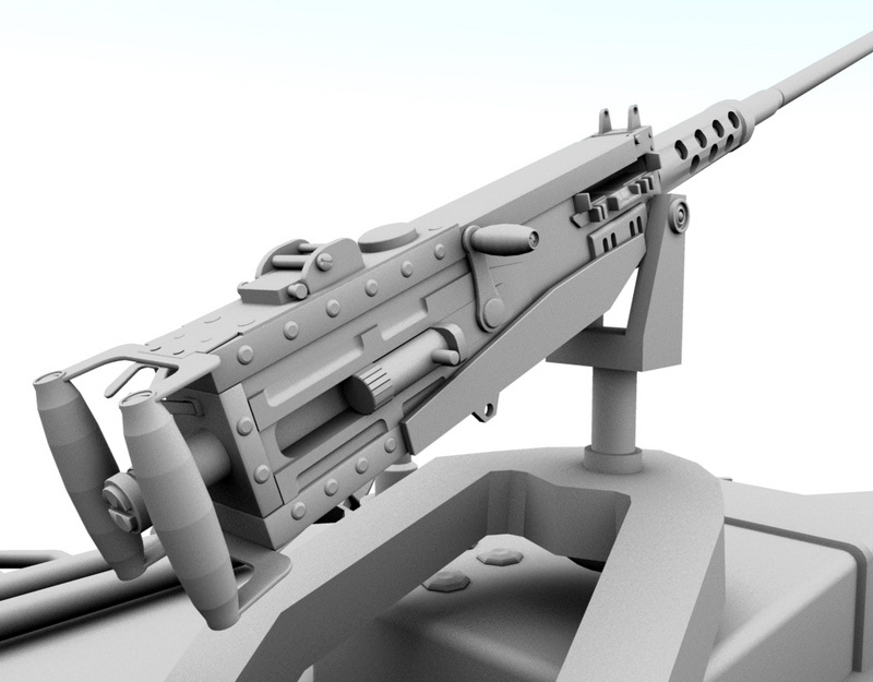 Modern Tank 3d rendering