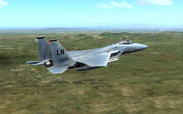 F-15 Tactical Fighter Aircraft 3d rendering