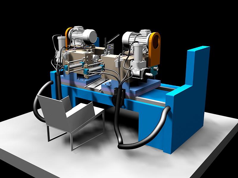 Lathe Machine 3d rendering