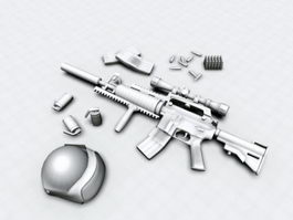 America Military M4 Carbine 3d preview