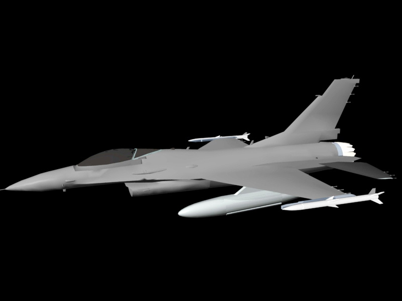 Fighter and Bomber 3d rendering