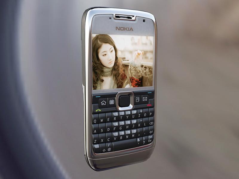 Nokia E71 Smartphone 3d rendering