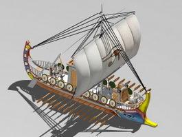 Roman Empire Warship 3d model preview