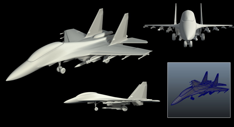 Fighter Plane 3d rendering