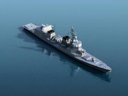 Akizuki-class Destroyer 3d model preview