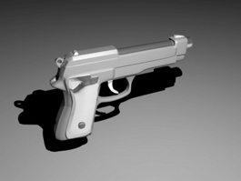 9Mm Handgun 3d preview