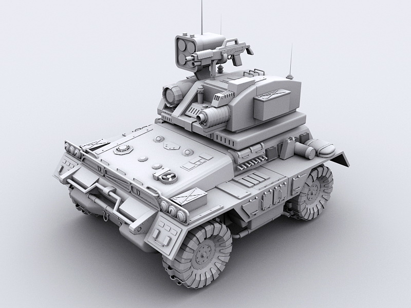Unmanned Ground Combat Vehicle 3d rendering