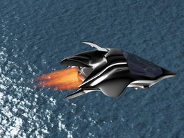 Sci-Fi Dropship Concept 3d preview