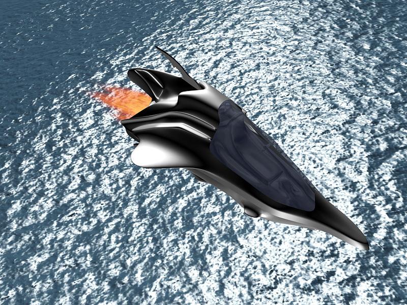 Sci-Fi Dropship Concept 3d rendering