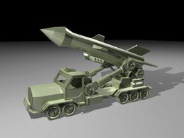 Missile Launcher Truck 3d preview