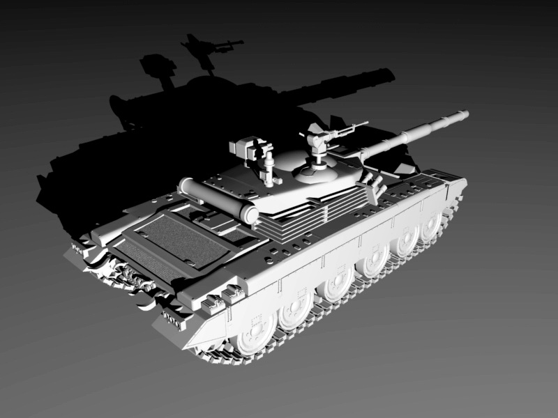 Animated Tank 3d rendering