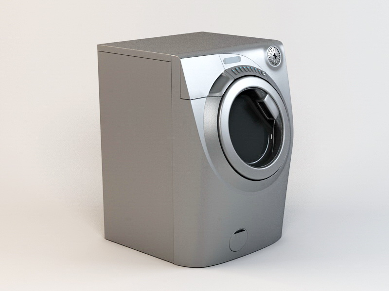 Washing Machine 3d rendering