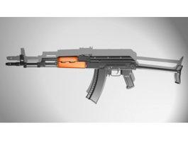 AK 47 Assault Rifle 3d model preview