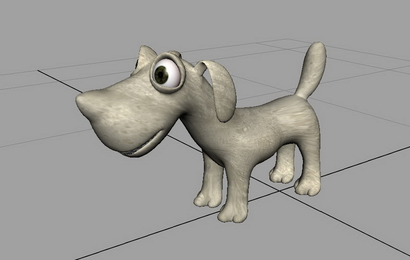 Cartoon Dog Rig 3d rendering