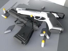Beretta 92FS Pistol 3d preview