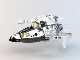Sci-Fi Assault Gunship 3d preview