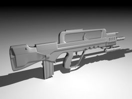 Sci-Fi Weapon Assault Rifle 3d preview