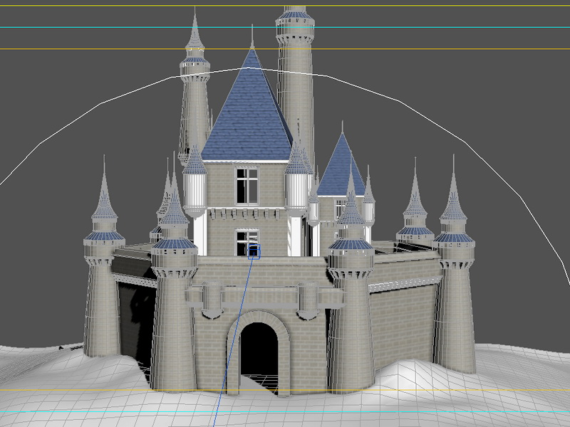 Disney Castle Animated 3d rendering