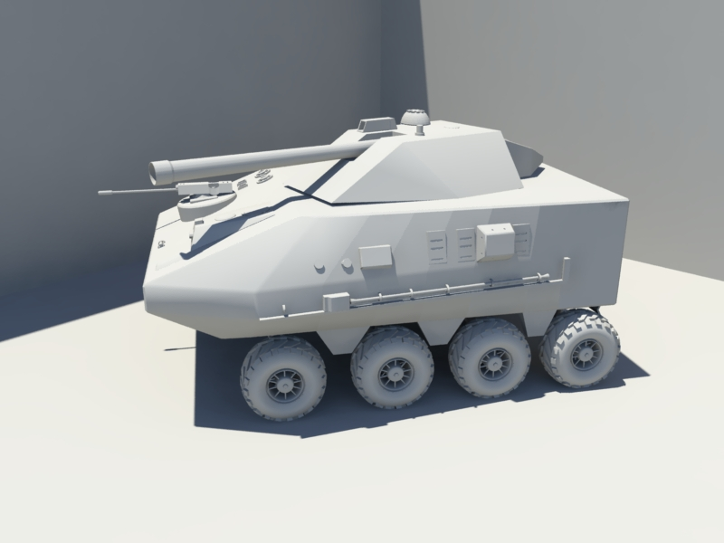 Light Armored Fighting Vehicle 3d rendering