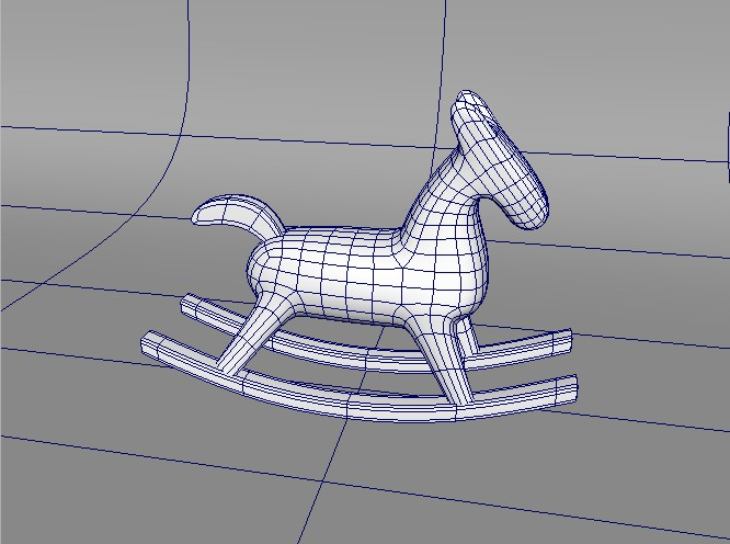 Wooden Rocking Horse 3d rendering