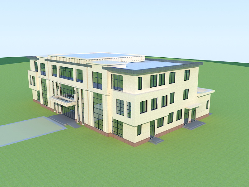 Small Office Building 3d rendering