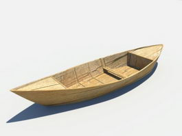 Old Wooden Boat 3d preview