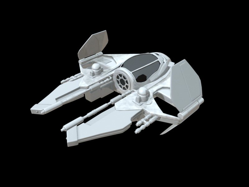 Star Wars Starfighter 3d rendering
