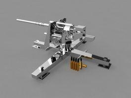 German 88 Flak Cannon 3d model preview