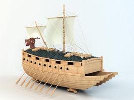 Korean Turtle Ship 3d model preview