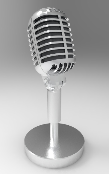 Shure Brothers Microphone 3d rendering