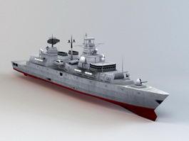 Bremen-class Frigate 3d model preview